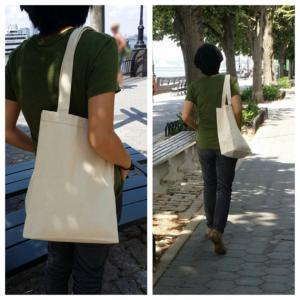 "5"" Gusseted canvas tote bag, 1.."