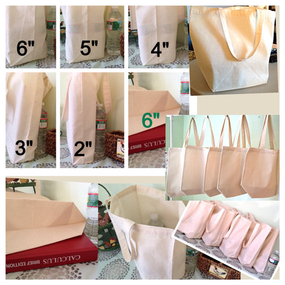 FREE custom gussets, (1) cotton canvas natural color tote, , wedding tote, bridal tote, DIY tote bag, blank tote, plain tote bag